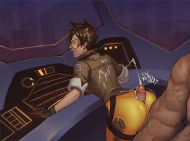 Forty More Hentai Drawings Of Tracer From Overwatch 19