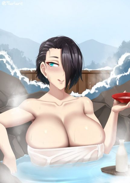 Thirty Pictures Of Hentai Girls Taking A Bath 13