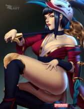 Forty More Hentai Pics Of Akali From League of Legends 17